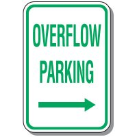 Visitor Parking Signs - Overflow Parking (Right Arrow)