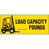 Load Capacity Forklift Label
