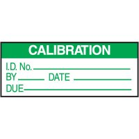 Calibration Label