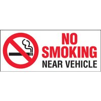 No Smoking Vehicle Warning Labels