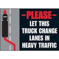 Heavy Traffic Vehicle Warning Labels