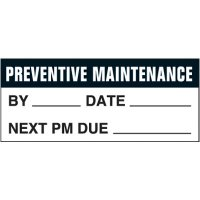 Preventive Maintenance Self-Laminating Status Labels