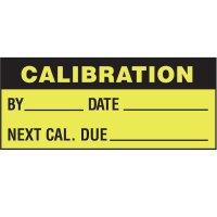 Calibration Status Label