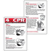 4 Steps To CPR Wallet Card