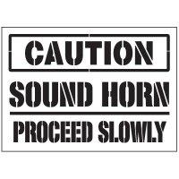 Caution Sound Horn Warehouse Stencils