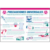 Spanish Universal Precautions Wallchart
