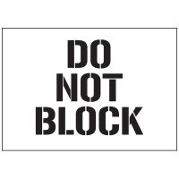 Warehouse Stencils - Do Not Block