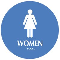 Women - Modern California Code Restroom Signs
