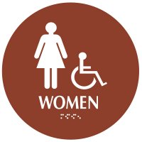 Women (Accessibility) - Modern California Code Restroom Signs