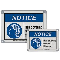 ToughWash® Encapsulated Signs - Notice Hairnets And Beard