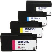 Brady BradyJet J5000 J50-CMYK Ink Cartridge - Black/Cyan/Magenta/Yellow
