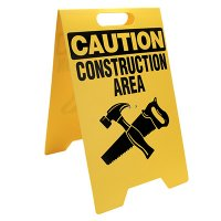 Caution Construction Area Floor Stand