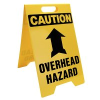 Caution Overhead Hazard Floor Stand