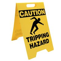 Caution Tripping Hazard Floor Stand