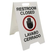 Restroom Closed Floor Stand