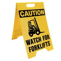 Watch For Forklifts Floor Stand
