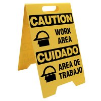 Caution Work Area Portable Floor Stand
