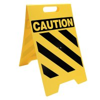 Caution Portable Floor Stand