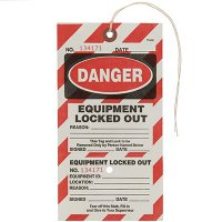 Danger Equipment Locked Out Tear-Off Tags
