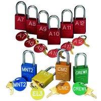 Custom Engraved Padlocks with Key-Tags