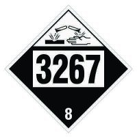 3267 Corrosive Liquid, Basic, Organic - DOT Placards