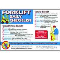 Forklift Daily Checklist Wallchart