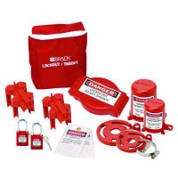 Brady 99680 Valve Lockout Pouch Kit With Brady Safety Padlocks & Tags