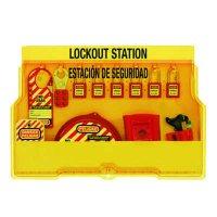Master Lock® Bilingual Lockout Station, Valve