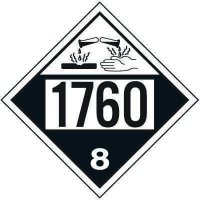 1760 Corrosive Liquid, N.O.S. - DOT Placards