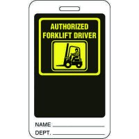 Authorized Forklift Driver ID Tag