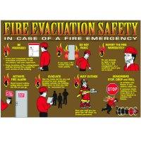 Fire Evacuation Safety Wallchart