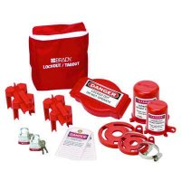 Brady 99681 Valve Lockout Pouch Kit With Brady Steel Padlocks & Tags