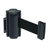 Beltrac® Wall-Mount Retractable Belts - Black Belt