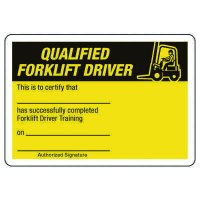 Certification Photo Wallet Cards - Qualified Forklift Driver
