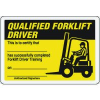 Qualified Forklift Driver Card