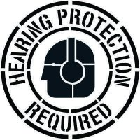 Hearing Protection Required Floor Stencil Pavement Tool S-5513 D
