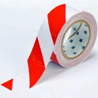 "Red/White Stripe 4"" ToughStripe™ Floor Marking Tape"