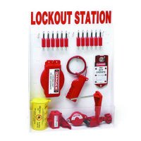 Brady Electrical/Valve Lockout Station - Filled with 46 Components, Inc. Non-Conductive Body Safety Padlocks