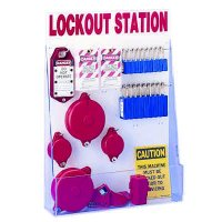 Brady Mechanical Lockout Station with Full Selection of Valve Lockout Devices, Locks and Tags
