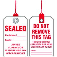Sealed Container Tag