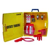 Ready Access Valve Lockout Station with Steel Padlocks