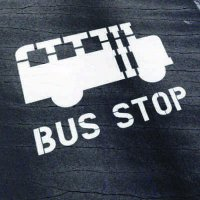 School Bus Stop Stencil