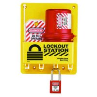 Master Lock® Compact Lockout Station, Plug