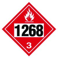 1268 Petroleum Distillates - DOT Placards