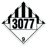 3077 Environmentally Hazardous, Solids- DOT Placards