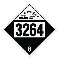3264 Corrosive Liquid, Acidic, Inorganic - DOT Placards