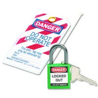 Brady 123143 Personal Lockout Kit c/w Red Compact Safety Padlock and Danger Do Not Operate Tag
