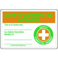 Safety Committee Member Card