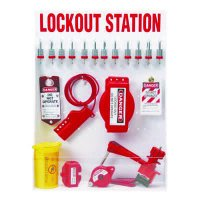 Brady Electrical/Valve Lockout Station - Filled with 46 Components, Including Steel Safety Padlocks
