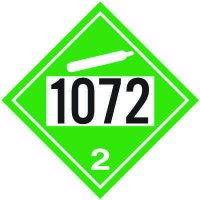 1072 Oxygen - DOT Placards